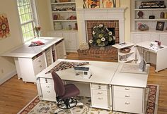 We carry a variety of Koala Studios sewing furniture. Check out the Koala Studios website for more details. Sewing Room Design, Craft Room Design, Sewing Spaces, My Sewing Room, Sewing Rooms, Sewing Studio, Sewing Desk, Craft Space, Sewing Room Organization