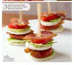 BLT Finger Sandwiches!!