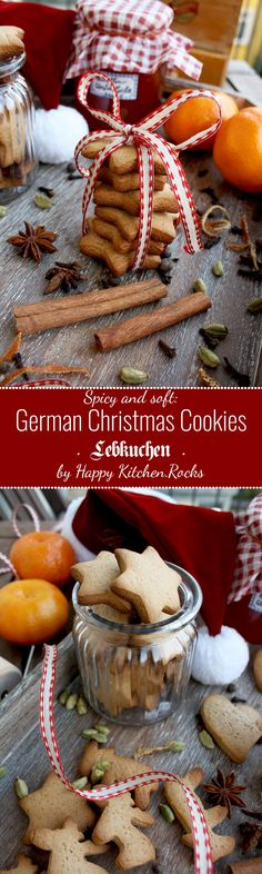 Authentic recipe of the most popular German cookies: spicy, soft and incredibly flavorful. Give them as gifts to your family and friends! by katie Christmas Drinks, Christmas Desserts, Christmas Treats, Christmas Baking, Christmas Foods, German Christmas Cookies, German Cookies, Holiday Cookies, German Baking