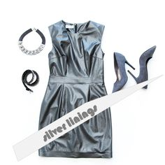 Find your 'silver linings' on a Mood Boards, Athletic Tank Tops, Xmas, Silver, Collection, Dresses, Women, Style, Fashion