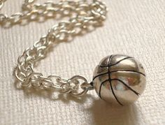 Basketball Necklace Silver Ball Pendant Sports by RhondasTreasures from RhondasTreasures on Etsy. Basketball Moves, Basketball Shorts Girls, Basketball Shoes For Men, Basketball Tricks, Love And Basketball, Basketball Stuff, Basketball Court, Basketball Signs, Basketball Party