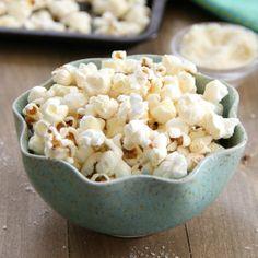 Parmesan Popcorn - just three easy ingredients required!