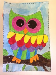 Color It Like You MEAN 3rd Grade Owls Complimentary ColorsCrafts For KidsFall CraftsKindergarten ActivitiesArt