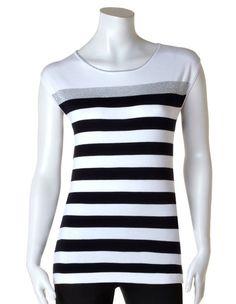 Lurex Stripe Sleeveless Sweater