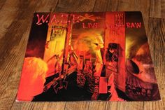 W.A.S.P. Live In The Raw LP VINYL Blackie Lawless Chris Holmes Johnny Rod