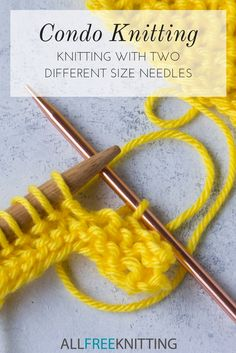 Condo Knitting: Knitting with Two Different Size Needles | The old-fashioned style of knitting from the 70s that you probably forgot existed!