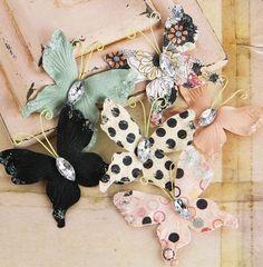 Prima Paper Butterflies - Rondelle. $3.20, via Etsy.