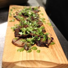 Ox Tongue with Herb Sauce. #christmasparty #cocktailfood #delish