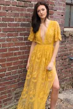 Chloe Yellow Lace Maxi Dress.. FINALLY FOUND IT