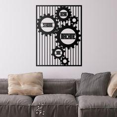 Deccort | Machine Metal Tablo Metal, Poster, Instagram, Home Decor, Homemade Home Decor, Metals, Posters, Interior Design, Home Interiors