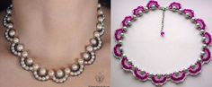 Featured on our Bead-Patterns.com Newsletter.  FREE Pattern - Necklace and bracelet with pearls