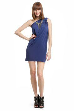 Halston Heritage Blue Lagoon Dress