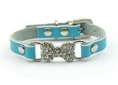 Kailian ª' Rhinestone Puppy/Kitty/Small Cat/Small Pet Leather Collar Cat Bling Collars With Rhinestone Bone-Shaped >> Want to know more, visit the site now : Cat accessories