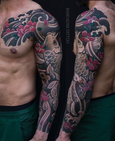 Japanese Tattoo Meanings, Japanese Tattoos For Men, Traditional Japanese Tattoos, Japanese Tattoo Designs, Japanese Tattoo Art, Japanese Sleeve Tattoos, Japanese Style, Japanese Koi, Tattoo Arm Mann