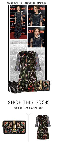 """""""#1447 (Natalie Portman)"""" by lauren1993 ❤ liked on Polyvore featuring Oris, Dolce&Gabbana, Lipsy and Casadei"""