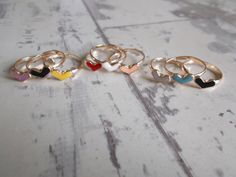 3 Hearts Stackable Rings/Midi Rings by BreakingHeartsJewels, Best Friend Rings, First Finger, Midi Rings, Stocking Fillers, Stackable Rings, Heart Ring, Birthday Gifts, Hearts, Gold