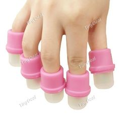 10 x Wearable Nail Soakers Polish Remover Soak Cap Nail Art Tool Set for Acrylic Nail HCI-135212