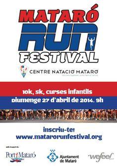 El proper 27 d'abril a les 9h se celebra la 1ª edició del Mataró Run Festival una prova oberta a tots els amants del running, siguin gran o petits, amb distàncies per a tota la família.