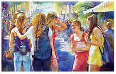 Graham Berry - Girls- Watercolor - Painting entry - December 2015 | BoldBrush Painting Competition
