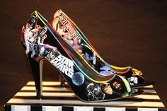 I'm not even a huge Star Wars fan but I love these shoes and would totally wear them...if only to get the attention of a cute geeky guy.