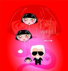 Karl Lagerfeld & Shu Uemura by SUSHISEB