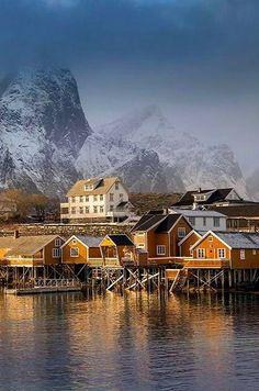 Sakrisøya village, Lofoten, Norway | by Antony Spencer