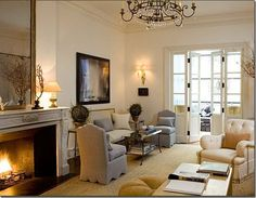 Babs Watkins   This room, also designed by Jeffrey Bilhuber, makes good use of a ...