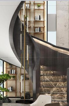 How to choose and buy a new and modern staircase – My Life Spot Home Stairs Design, Railing Design, Interior Stairs, House Design, Staircase Railings, Curved Staircase, Stairways, Stairs And Doors, House Stairs