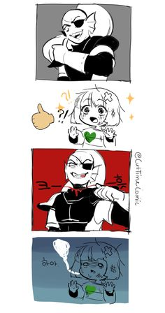 Undertale comic. Undyne and Frisk