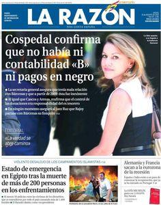 Los Titulares y Portadas de Noticias Destacadas Españolas del 15 de Agosto de 2013 del Diario La Razón ¿Que le pareció esta Portada de este Diario Español?