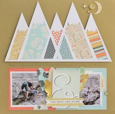 #papercraft #scrapbook #layout    best day ever - Scrapbook.com