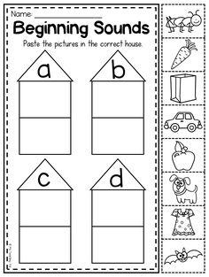 MEGA Phonics Worksheet Bundle - Pre-K Kindergarten by My Teaching Pal Phonics Worksheets, Phonics Activities, Letter Activities, Letter C Worksheets, Pre K Worksheets, Cut And Paste Worksheets, Preschool Classroom, Preschool Learning, Kindergarten Worksheets