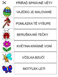 Pro Šíšu: Pracovní listy ČTEME PÍŠEME Montessori, Autism, Kids Learning