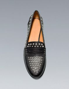 STUDDED MOCCASIN - Shoes - Woman - ZARA United States