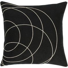 "Bobby Berk Home Bold Throw Pillow Size: 20"" H x 20"" W x 5"" D, Color: Black\Neutral"