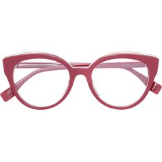 4900c6a5813 Fendi Eyewear cat eye glasses ( 283) ❤ liked on Polyvore featuring  accessories