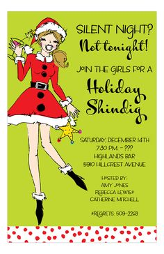 Inviting Company Digital Designs Santa Sister Invitation