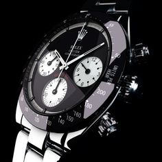 And this is how I like Rolex watches. Not too much bling, very understated, sleek, and sophisticated. I want you to have to look very closely to know its a Rolex. Dream Watches, Fine Watches, Luxury Watches, Cool Watches, Rolex Watches, Watches For Men, Rolex Daytona, Rolex Cosmograph Daytona, Daytona Watch