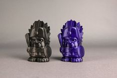 This battle-hardened hero looks especially mythic in our new Sparkly Black and Sparkly Dark Blue MakerBot® PLA Filaments. Impression 3d, Aztec Decor, 3d Printer, 3 D, Lion Sculpture, Hero, Statue, Prints, Dark Blue