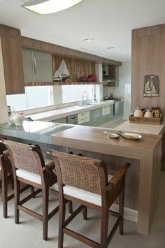 Cozinha em L - ampla