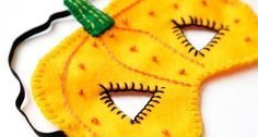How to Make a Felt Halloween Pumpkin Mask