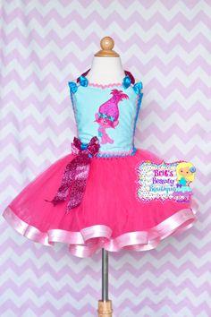 Inspired by Trolls Poppy Tutu Ribbon Dress/Trolls Tutu/Trolls Dress/Poppy Costume/Halloween Costume/Pageant Wear/Character Tutu Dress by BrittsBeautyBoutique on Etsy https://www.etsy.com/listing/498067843/inspired-by-trolls-poppy-tutu-ribbon