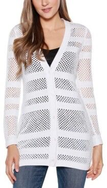 Belldini Black Label Women's Button Front Cardigan Sweater Cardigans For Women, White Cardigan, Sweater Cardigan, White Sweaters, Cute Tops, Knitwear, Tunic Tops, Clothes For Women, Tricot