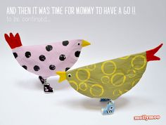 Paper Plate Crafts for Kids - Chickens