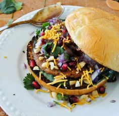 Indian Dabeli Vegan potato burger