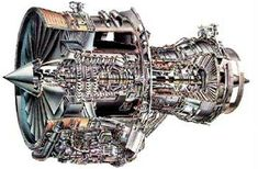Cut-away of the Rolls-Royce RB211-535 turbofan