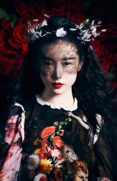 ❀ Flower Maiden Fantasy ❀ beautiful photography of women and flowers - zhang xinyuan, september 2012