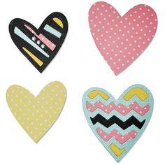 Čtyři srdce - vyřezávací šablona Bigz