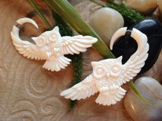 Kristin check these babies out! :) SALE Fake Gauge Earrings Owl Design Naturally by DewiDesign, $29.99