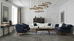 Sofa Furniture, Furniture Design, Chesterfield Sofa, Modern Sofa, Sofa Set, Sofa Ideas, Private Sector, Living Room, Interior